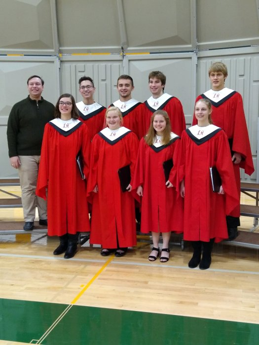 LAHS Honor Choir with Director Matthew Wilmes